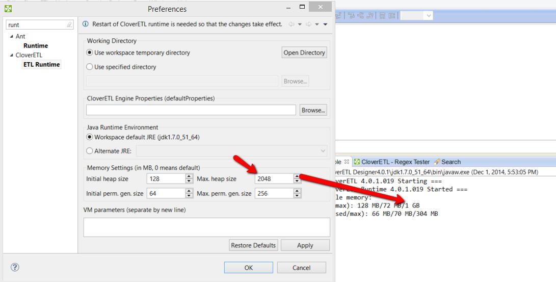 CLO-5426] Runtime memory report is confusing in Designer